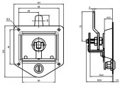 Recessed Handle Lock With Key